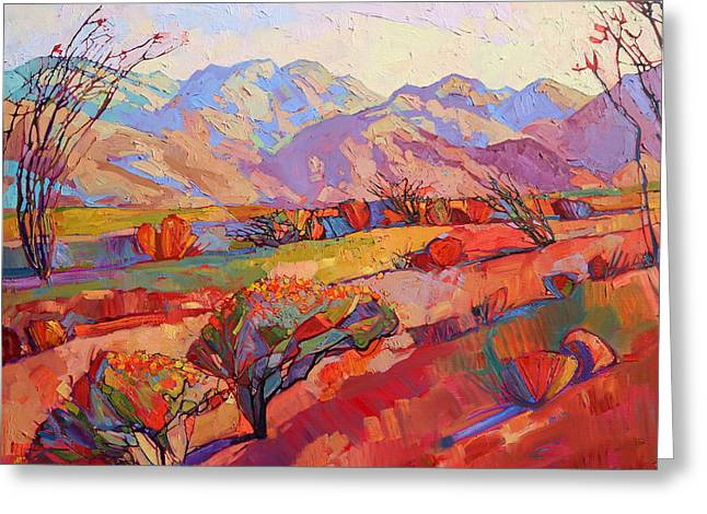 Ocotillo Triptych - Center Panel Greeting Card
