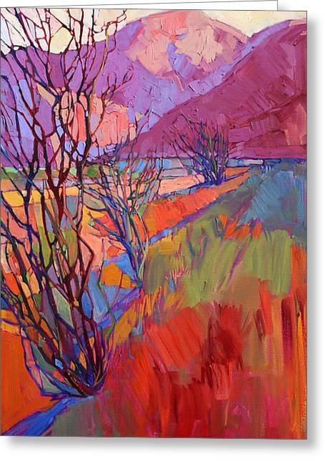Ocotillo Triptych - Right Panel Greeting Card
