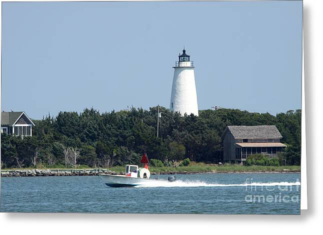 Ocracoke Light Greeting Card by Christiane Schulze Art And Photography