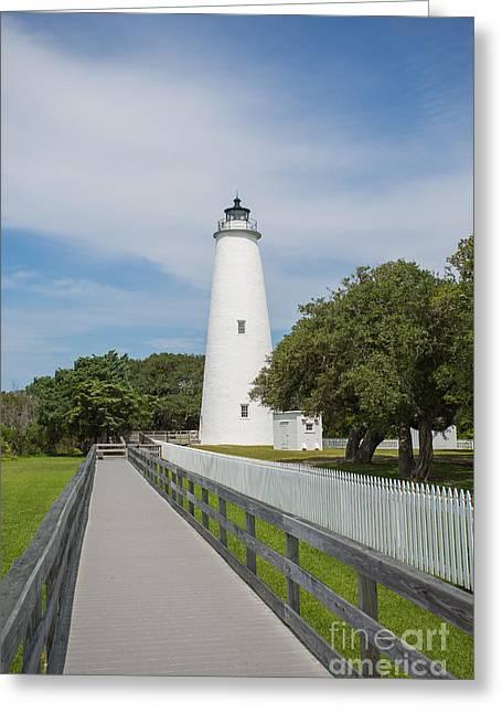 Ocracoke Lighthouse Greeting Card