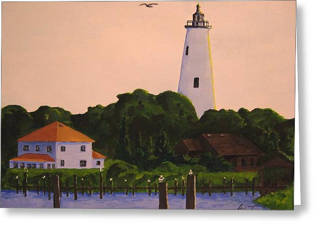 Ocracoke Lighthouse Greeting Card