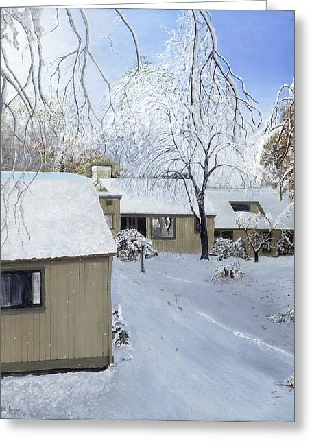 Oct Snow Storm Greeting Card by Stuart B Yaeger