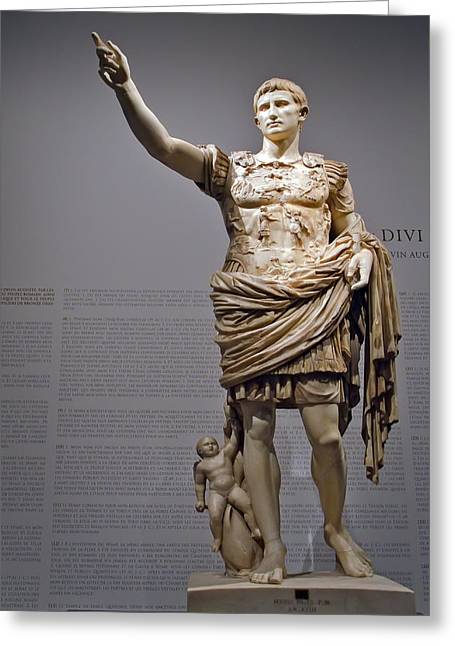 Octavius Augustus Greeting Card by Jose Flores