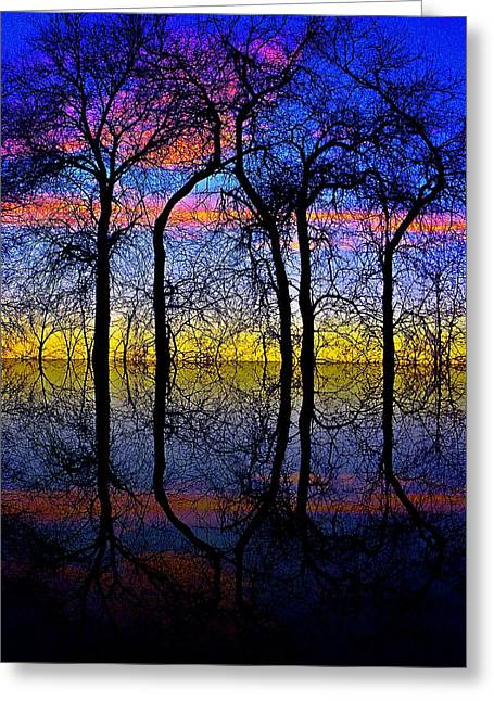 October Dusk  Greeting Card by Chris Berry