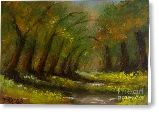 October Greeting Card by Fred Wilson