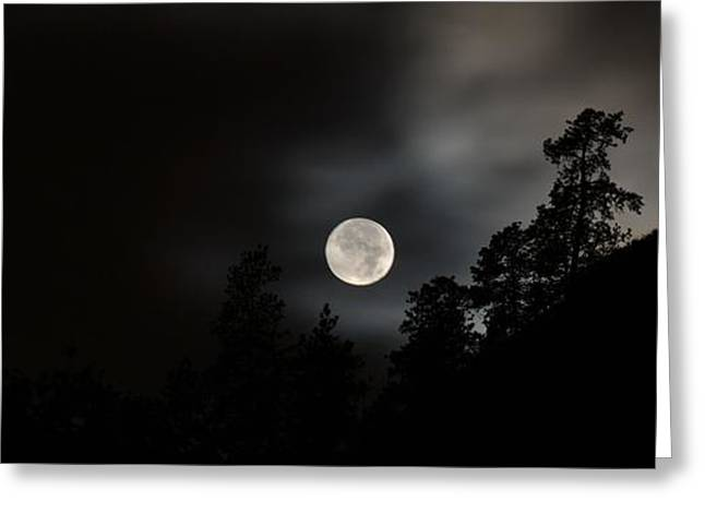 October Full Moon II Greeting Card by Phil Dionne