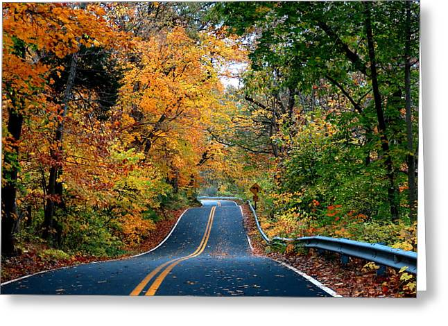October In Dayton Ohio Greeting Card by Eric Switzer