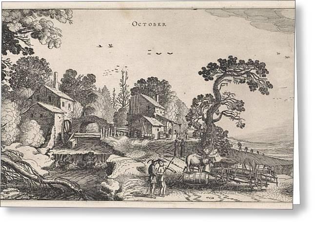 October, Jan Van De Velde II Greeting Card by Jan Van De Velde (ii)