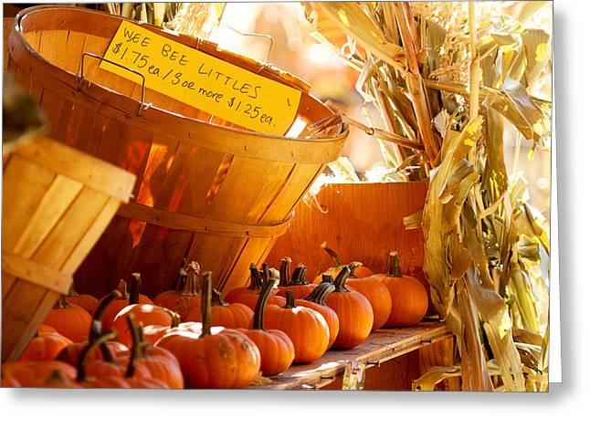 October Market Greeting Card by Jim Garrison