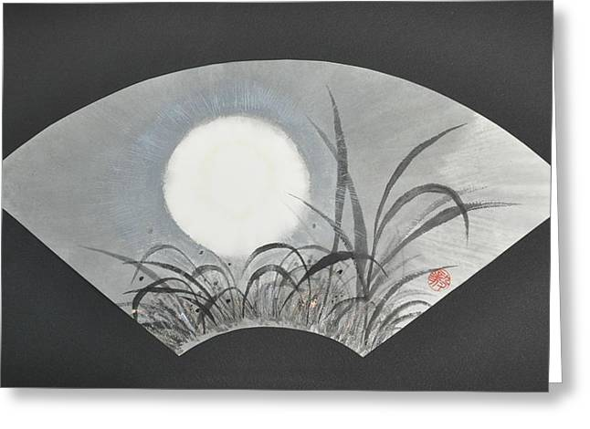 October Moonviewing Greeting Card