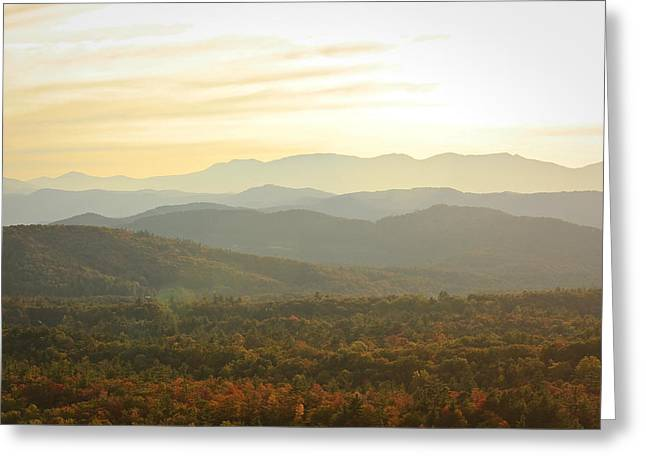 October Mountains Greeting Card