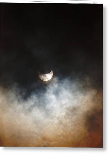 October Partial Solar Eclipse Greeting Card