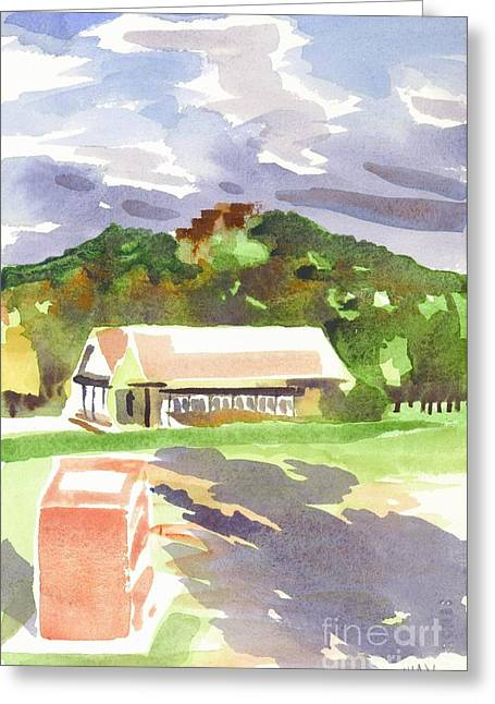 October Shadows At Fort Davidson Greeting Card by Kip DeVore