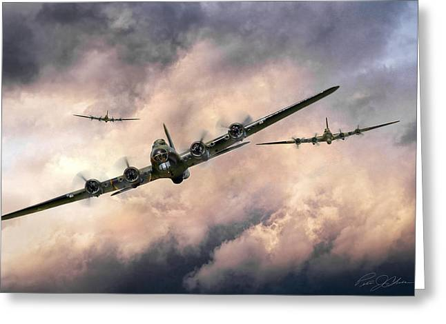 October Sky 1944 Greeting Card by Peter Chilelli