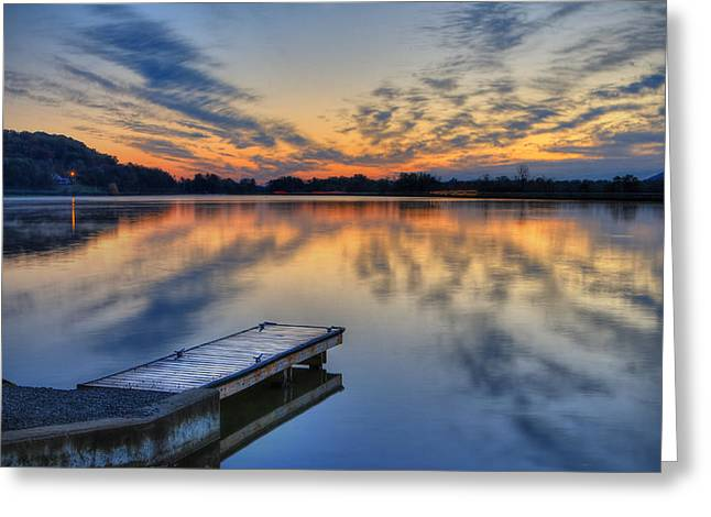 October Sunrise At Lake White Greeting Card