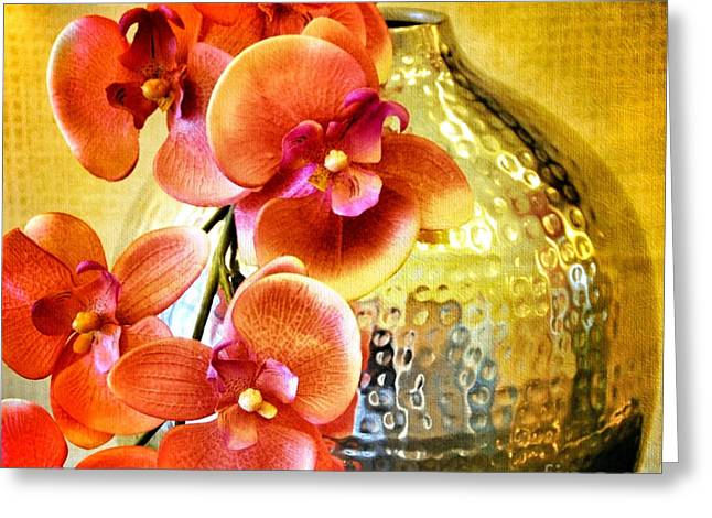 October's Orchids Greeting Card