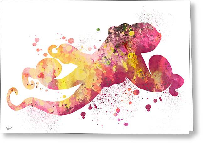 Octopus  Greeting Card by Watercolor Girl