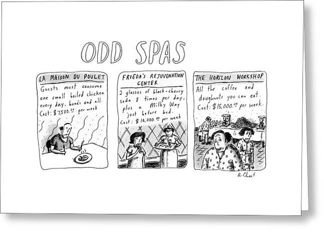 Odd Spas Greeting Card
