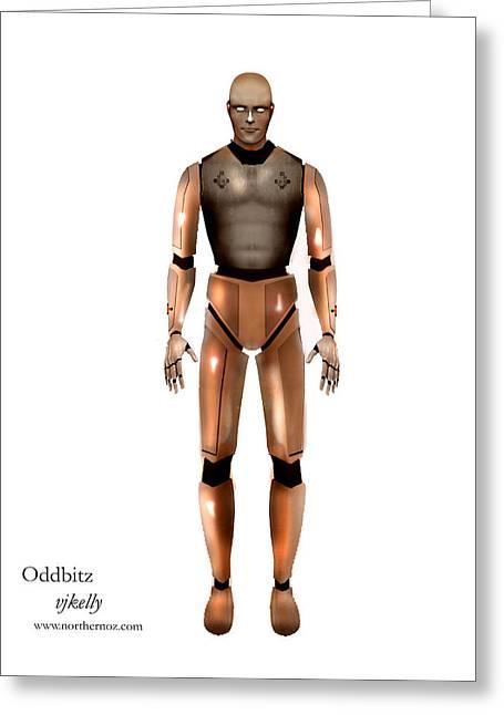 Oddbitz Greeting Card by Vjkelly Artwork