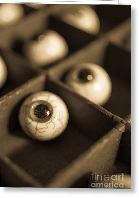 Oddities Fake Eyeballs Greeting Card