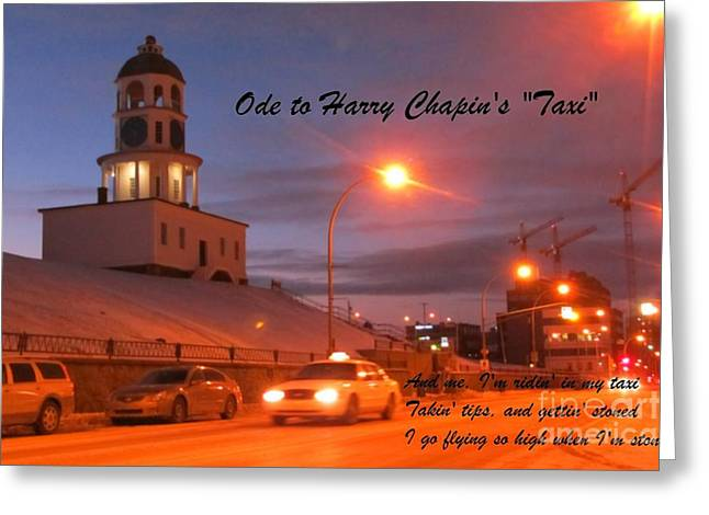 Ode To Harry Chapins Taxi Greeting Card by John Malone