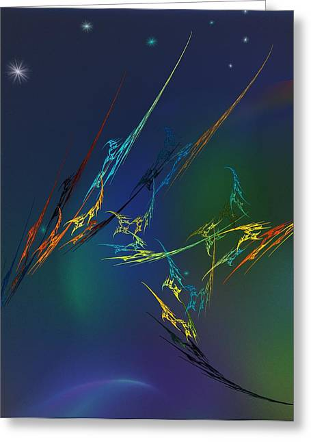 Greeting Card featuring the digital art Ode To Joy by David Lane