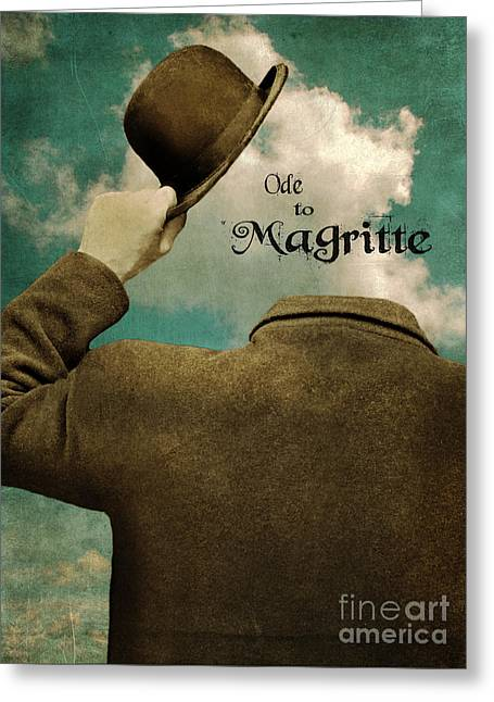 Ode To Magritte Greeting Card by Jill Battaglia
