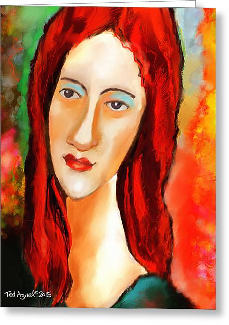 Ode To Modigliani Greeting Card