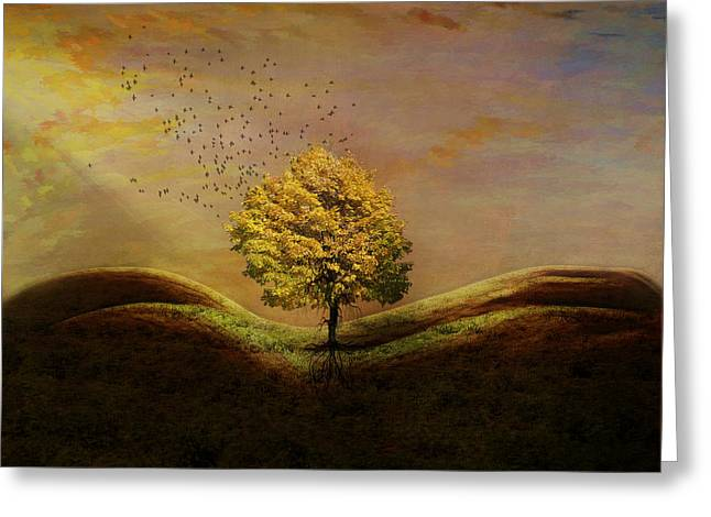Ode To Mother Earth Greeting Card by Terry Fleckney
