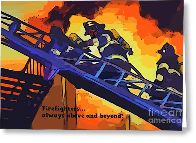 Ode To Our Heros Greeting Card by John Malone