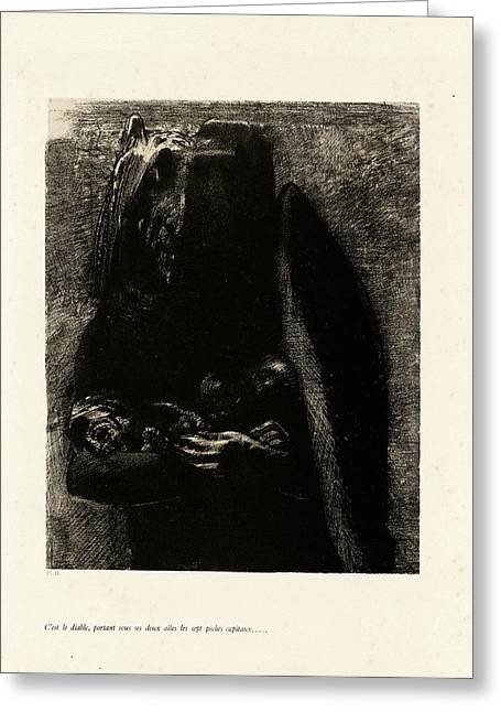 Odilon Redon, Cest Le Diable, French, 1840-1916 Greeting Card