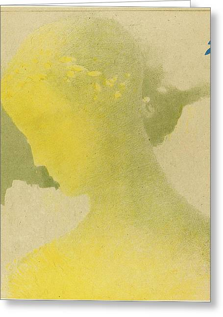Odilon Redon French, 1840 - 1916, Béatrice Greeting Card by Quint Lox