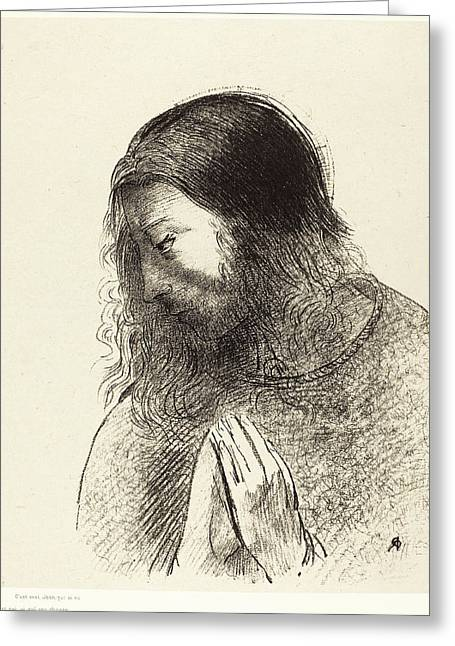 Odilon Redon French, 1840 - 1916, Cest Moi Greeting Card by Quint Lox