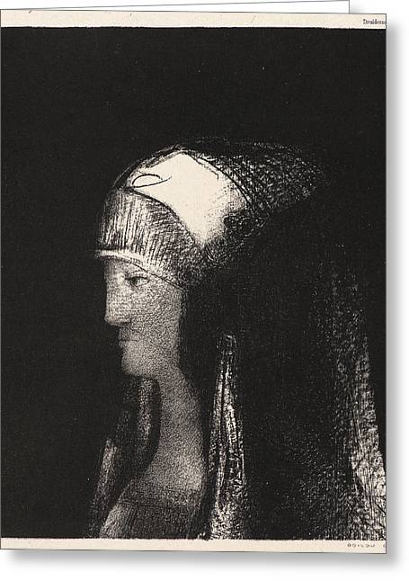 Odilon Redon French, 1840 - 1916. Druidess Druidesse Greeting Card