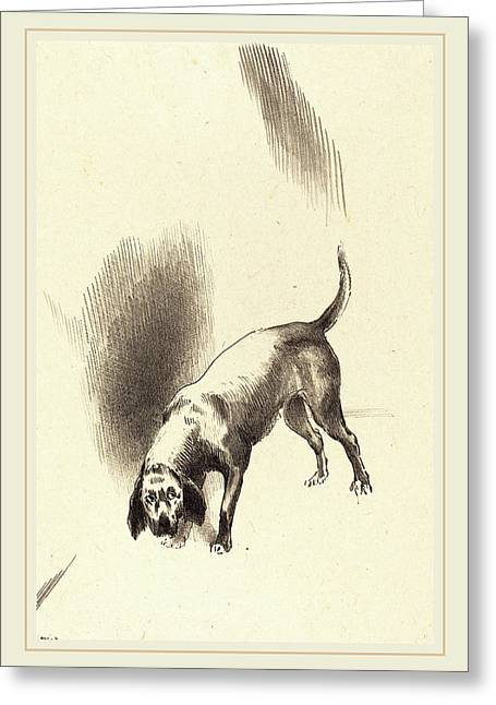 Odilon Redon French, 1840-1916, The Dog Greeting Card by Litz Collection