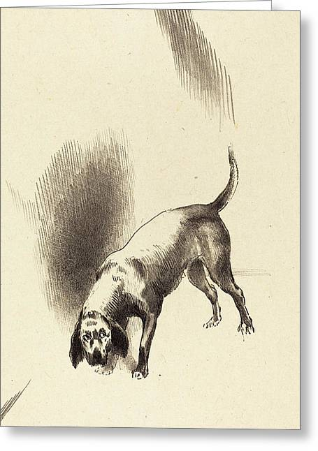 Odilon Redon French, 1840 - 1916, The Dog Greeting Card by Quint Lox