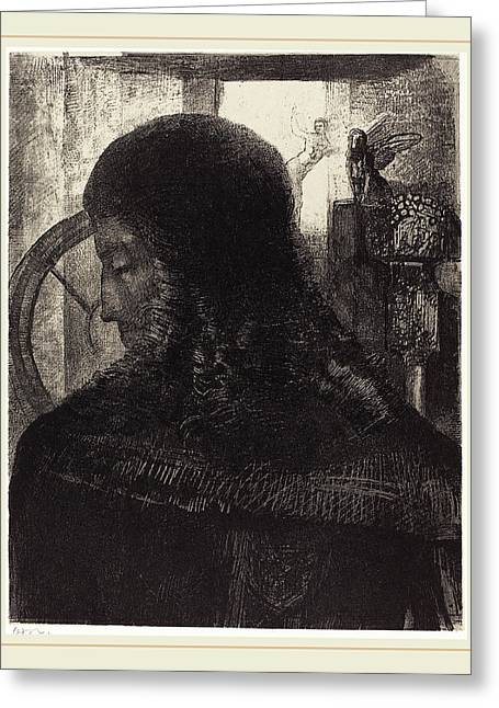 Odilon Redon French, 1867-1939, Vieux Chevalier Old Knight Greeting Card