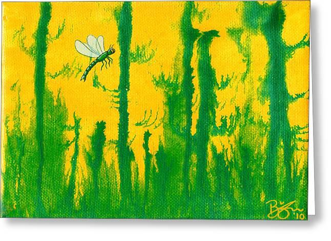 Odonata Greeting Card by Lance Bifoss