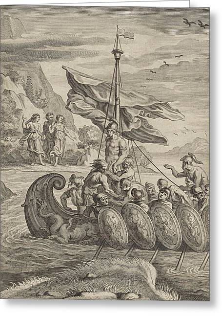 Odysseus And The Sirens, Anonymous, Abraham Van Diepenbeeck Greeting Card