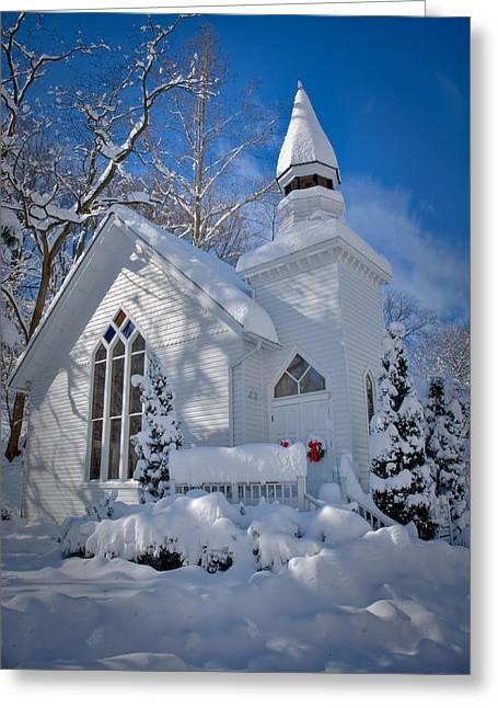 Oella Snow Church Greeting Card