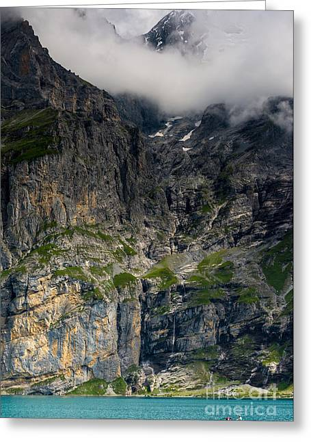 Oeschinensee Mountain - Bernese Alps - Switzerland Greeting Card