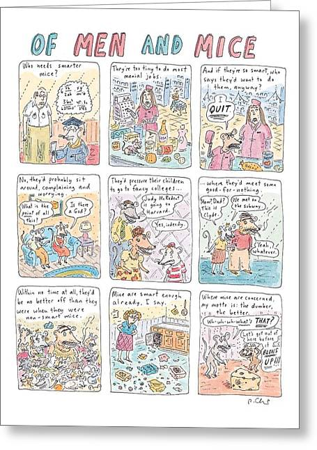 Of Men And Mice Greeting Card by Roz Chast