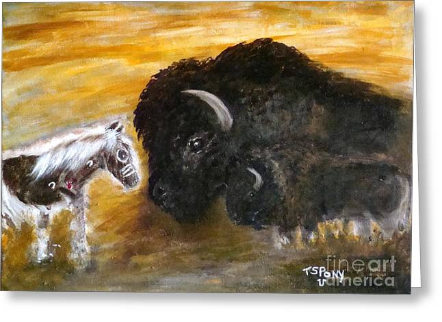 Greeting Card featuring the painting Of Proud Heritage by Barbie Batson