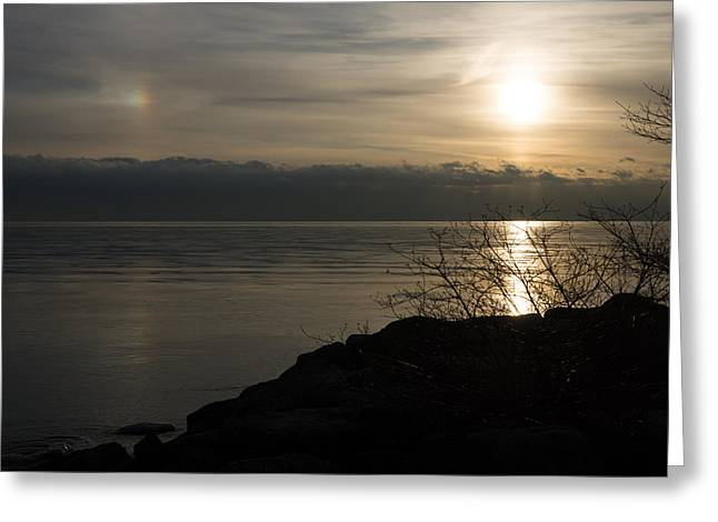 Of Sun Dogs And Rainbows Greeting Card