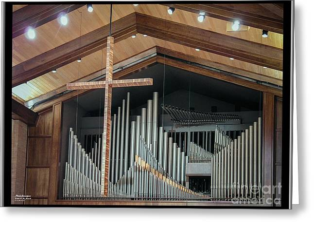 Greeting Card featuring the photograph Of The Cross And Pipes by Karen Musick