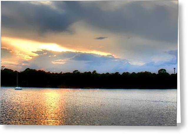 Off Into The Sunset Greeting Card by Debra Forand