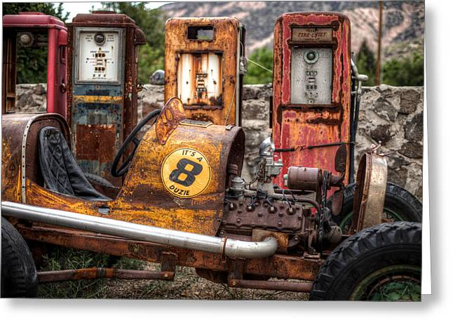 Off Road Gas Station Greeting Card by Georg Beyer