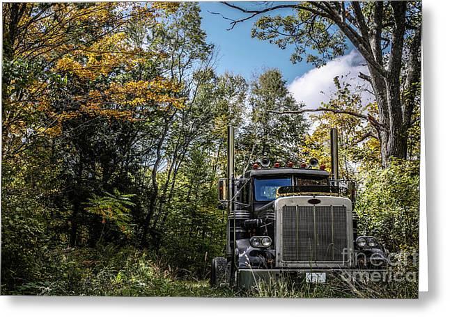 Off Road Trucker Greeting Card by Edward Fielding