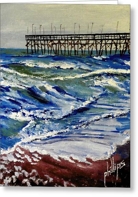 Off Season At Northtopsail Greeting Card by Jim Phillips