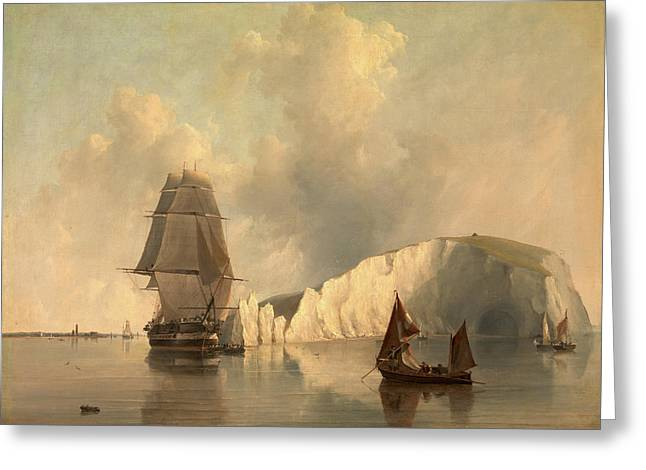 Off The Needles, Isle Of Wight, Edward William Cooke Greeting Card by Litz Collection